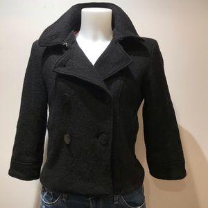 G.E.T. Black Wool Cropped pea coat